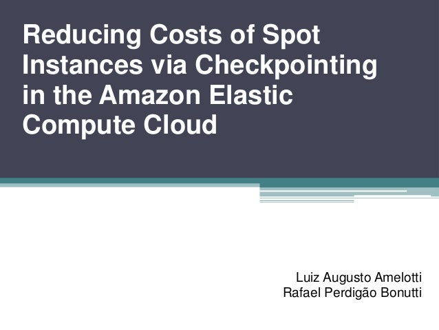 Reducing Costs of Spot Instances via Checkpointing in the Amazon Elastic Compute Cloud Luiz Augusto Amelotti Rafael Perdig...