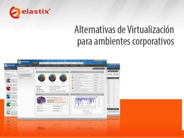 ¿Qué es la virtualización?  • Es la combinación de hardware y software que permite a una única máquina comportarse como si...