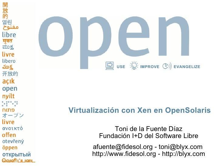 Virtualizacion Con Xen En Open Solaris