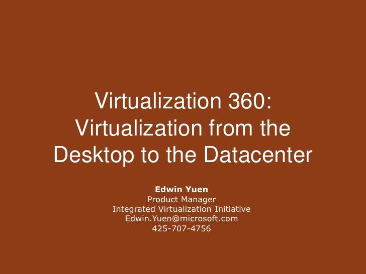 Virtualization 360 - Westcoast