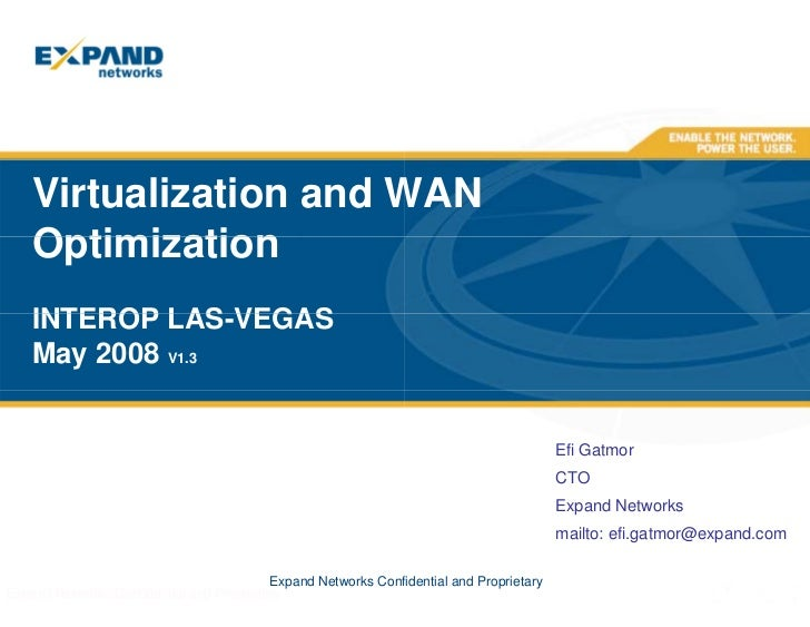 Virtualization and WAN Optimization