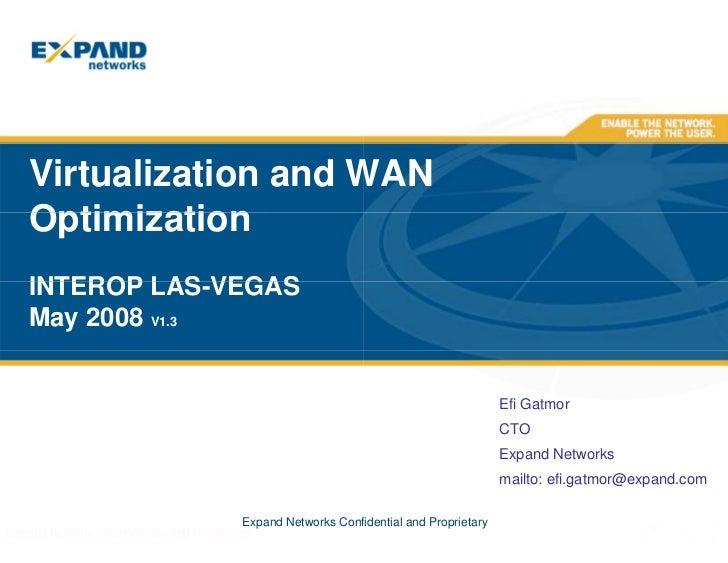 Virtualization and WAN Optimization