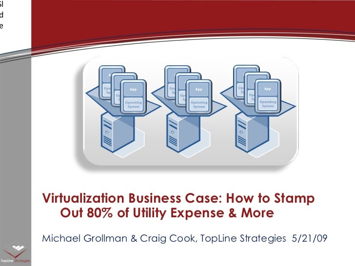 Michael Grollman & Craig Cook, TopLine Strategies  5/21/09 Virtualization Business Case: How to Stamp Out 80% of Utility E...