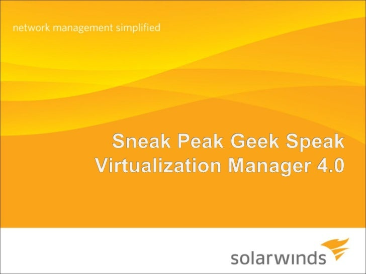 Virtualization Manager 4.0 Sneak Peek