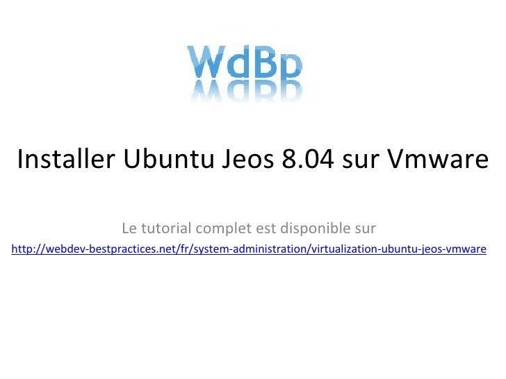 Virtualization Ubuntu Jeos Vmware