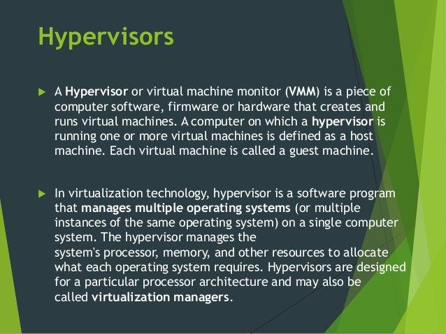 machine hypervisors