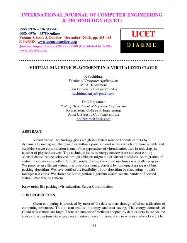 INTERNATIONALComputer EngineeringCOMPUTER ENGINEERING – International Journal of JOURNAL OF and Technology (IJCET), ISSN 0...