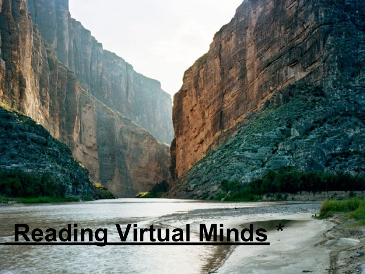 Reading Virtual Minds *