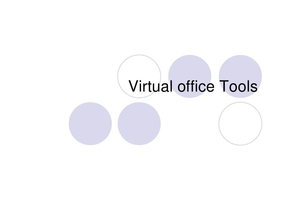 Virtual office Tools