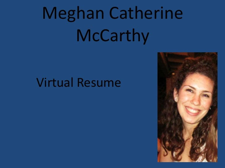 Virtual resume