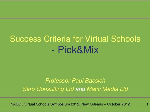 Virtual schools success criteria draft final