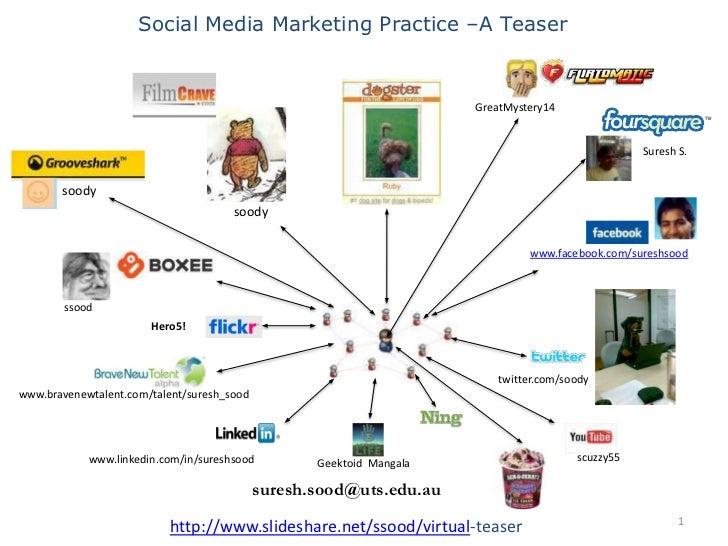 Social Media Marketing Practice –A Teaser <br />GreatMystery14<br />Suresh S.<br />soody<br />soody<br />www.facebook.com/...