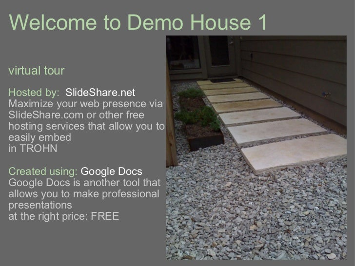Virtual tour of Demo House 1