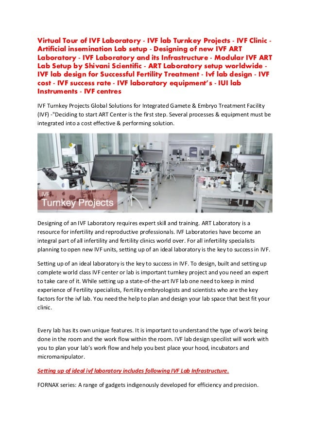 Virtual Tour of IVF Laboratory - IVF lab Turnkey Projects - IVF Clinic - Artificial insemination Lab setup - Designing of ...