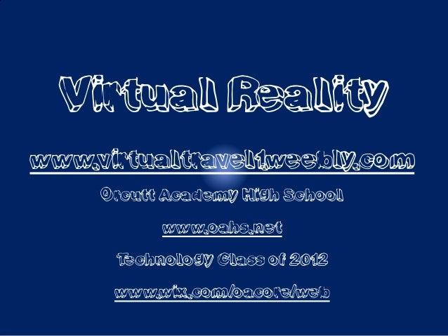 Virtual travel powerpoint