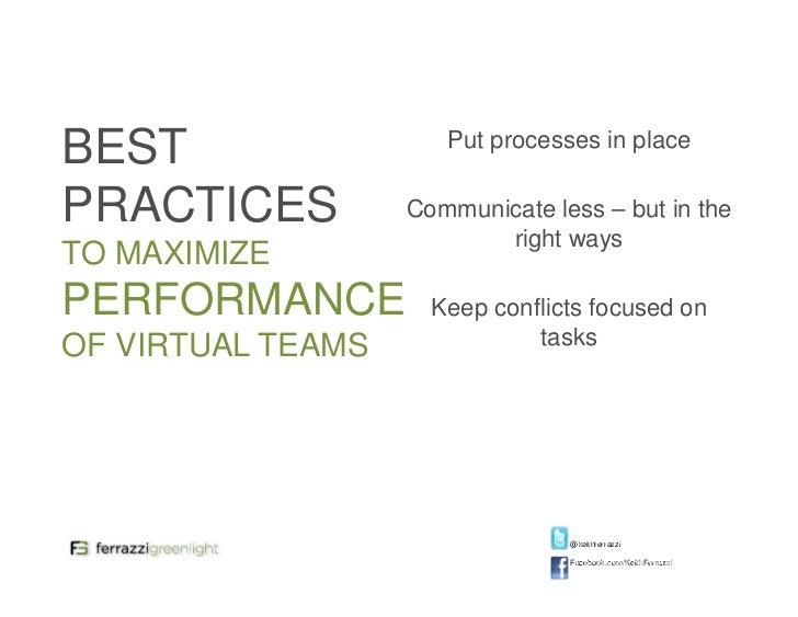 virtual vs traditional While a majority of respondents found face-to-face teams more creative than virtual teams,.