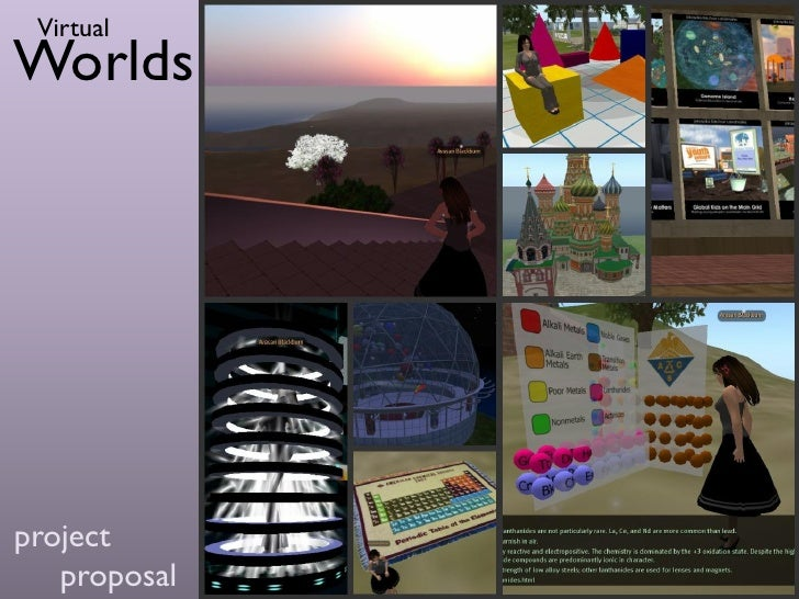 Virtual Worlds Project Proposal - Reaction Grid