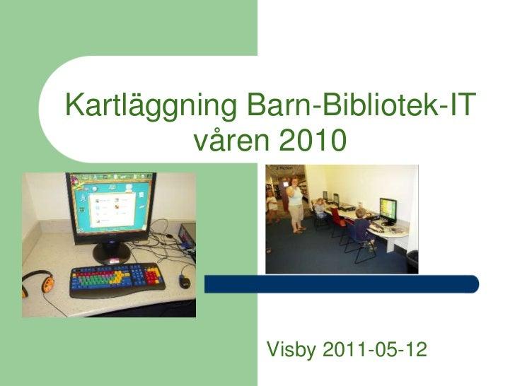 Virtuella barnbibliotekstjänster biblioteksdagarna 2011