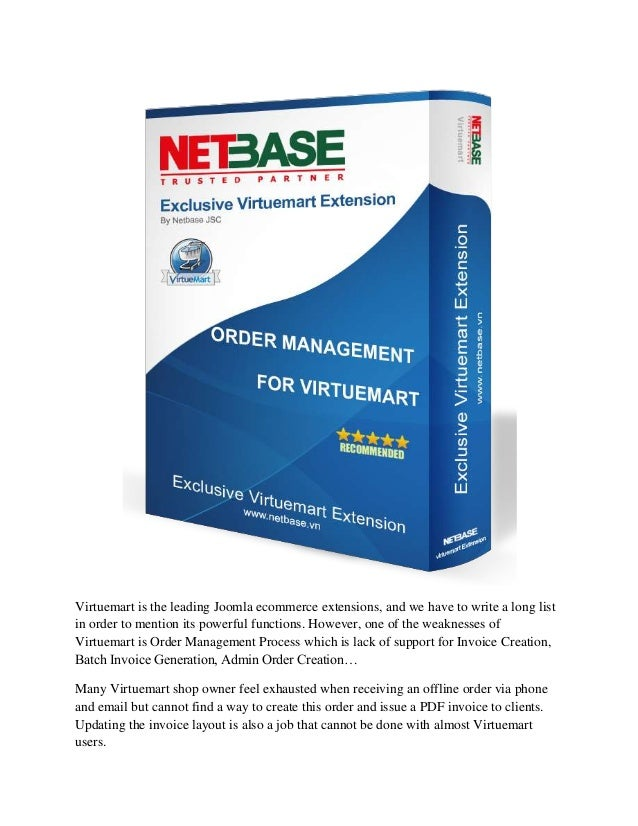 Virtuemart extensions   virtuemart order management