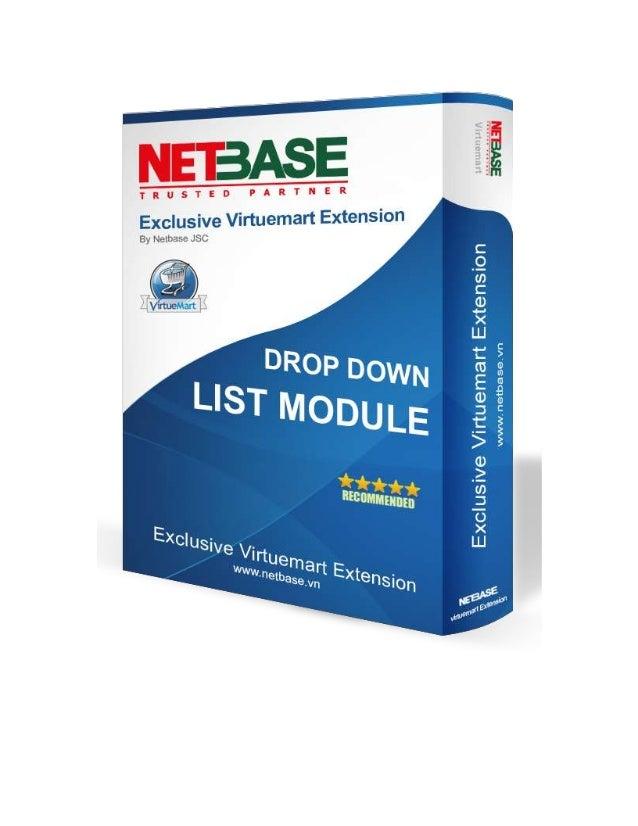 Virtuemart manufacturer drop down list module