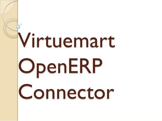 Virtuemart OpenERP Connector