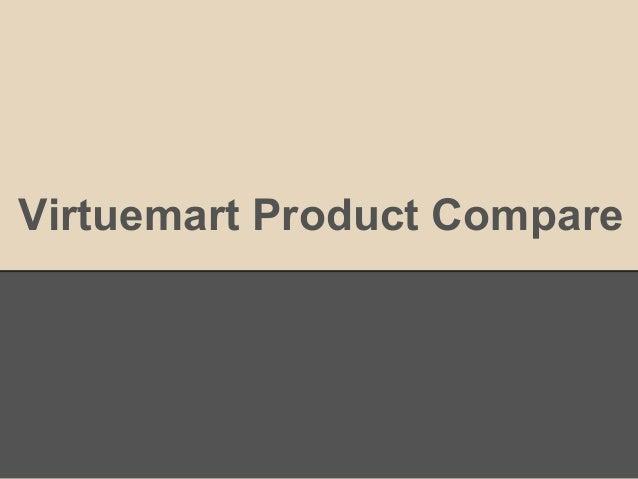Virtuemart Product Compare
