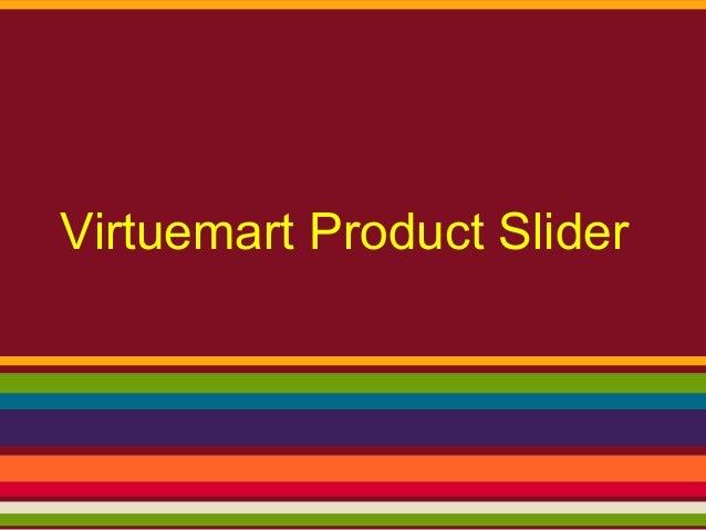 Virtuemart Product Slider