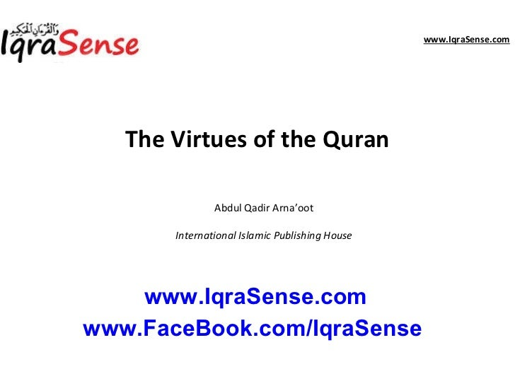 Virtues of-quran