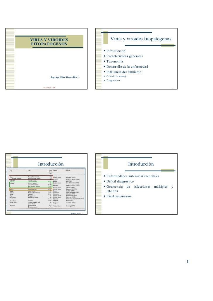 VIRUS Y VIROIDES                                          Virus y viroides fitopatógenosFITOPATOGENOS                     ...