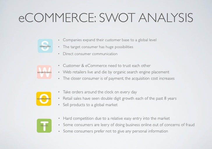 advanced swot analysis of e commerce Find the latest and comprehensive swot & pestle analysis of flipkart, one of  the largest e-commerce company in india.
