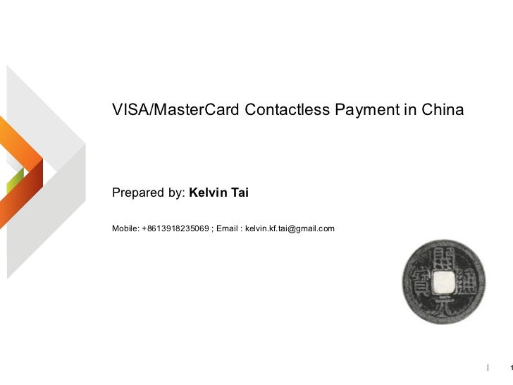 Visa master card contactless payment in china_v1
