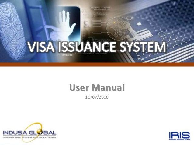 User Manual   10/07/2008