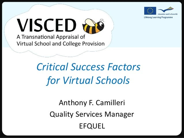 Critical Success Factors for Virtual Schools
