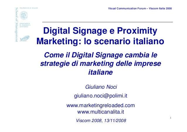Come il digital signage cambia le strategie di marketing delle imprese_Viscom_131108_Noci