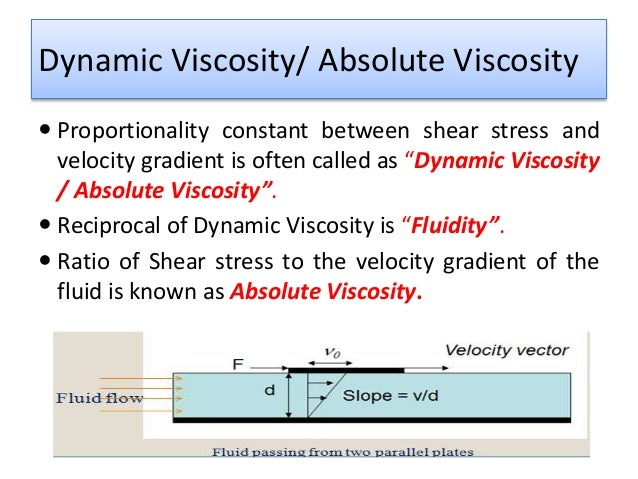 velocity and viscosity relationship