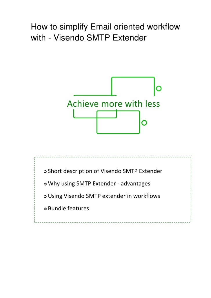 How to simplify Email oriented workflow with - Visendo SMTP Extender