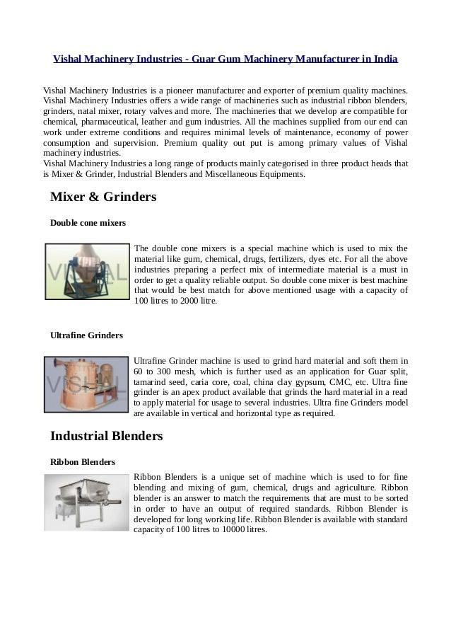 Vishal Machinery Industries