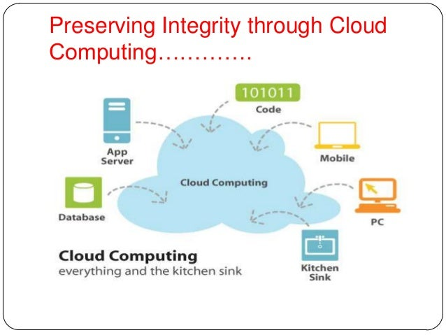 Preserving Integrity through Cloud Computing…………. ................