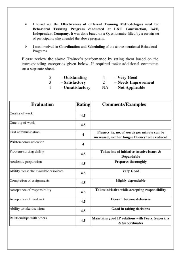 Training Effectiveness Evaluation Form  More Info