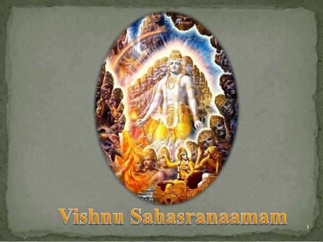 Vishnu sahastranamam   meaning in english