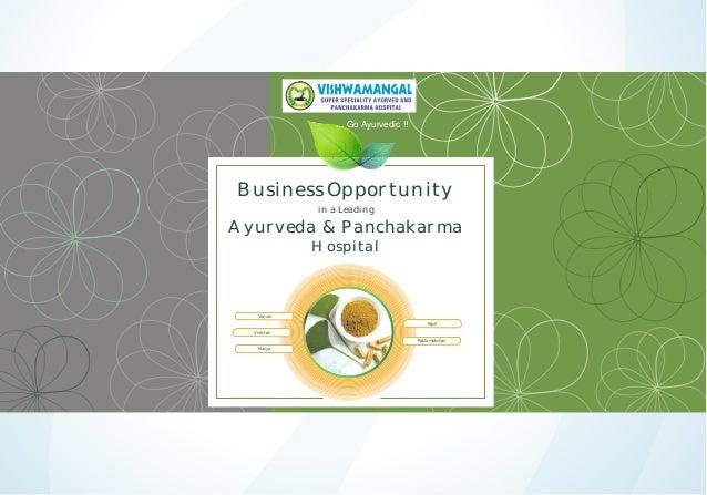 ... Go Ayurvedic !!  Business Opportunity in a Leading  Ayurveda & Panchakarma Hospital  Vaman Basti Virechan Raktamokshan...