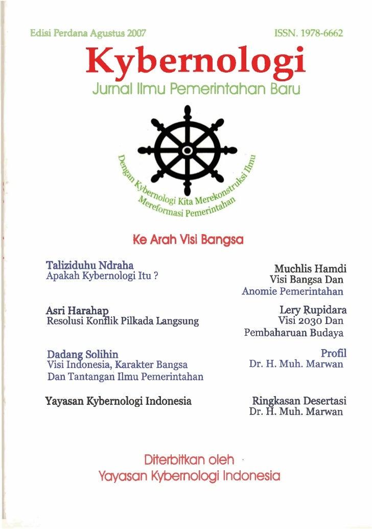Edisi Perdana Agushs 2007                Kybernologi              Jurnal llmu Pemerintahan Baru                           ...