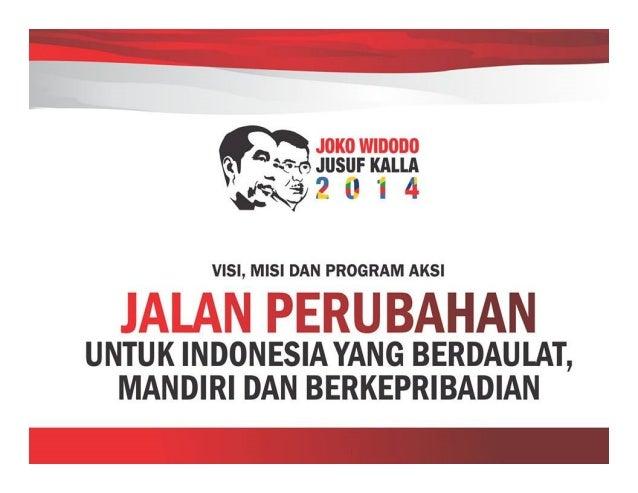 Visi Misi dan Program Aksi Perubahan Jokowi-JK