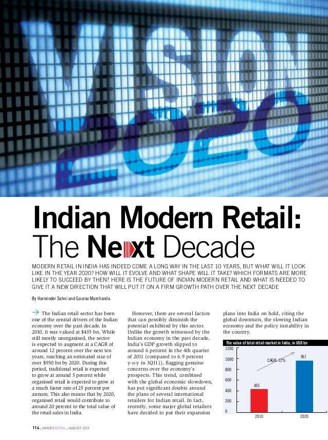 vision 2020Indian Modern Retail:The Ne xt Decademodern retail in india has indeed come a long way in the last 10 years, bu...