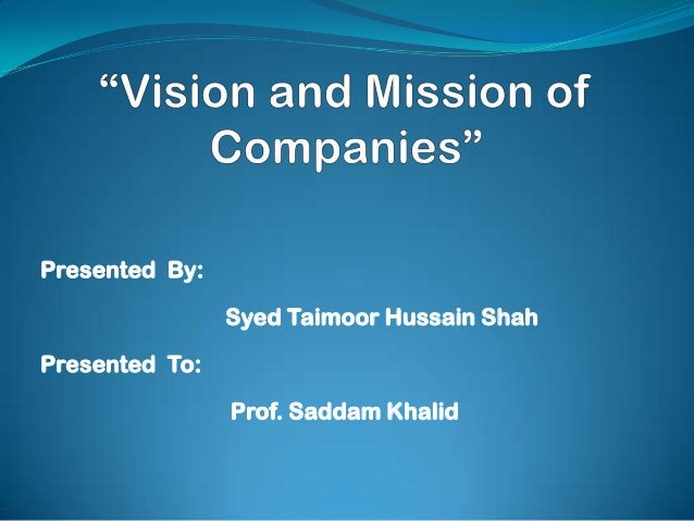 dell vision and mission statement