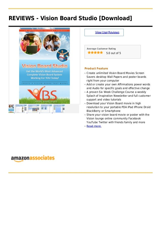 REVIEWS - Vision Board Studio [Download]ViewUserReviewsAverage Customer Rating5.0 out of 5Product FeatureCreate unlimited ...
