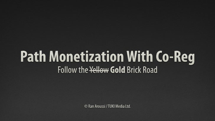 רן ארוסי: Path Monetization with Co-Reg. כנס VisionCamp 2012