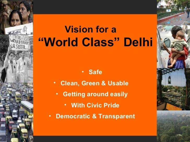 Vision for Delhi UTTIPEC