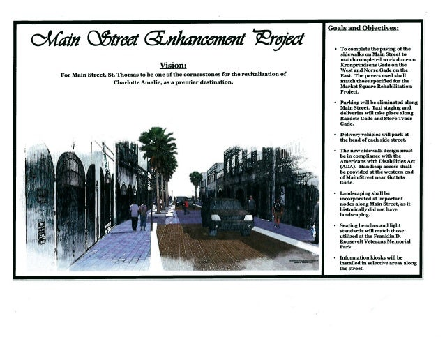 Main Street Enhancement: Vision, Goals, and Objectives as of September 2012.