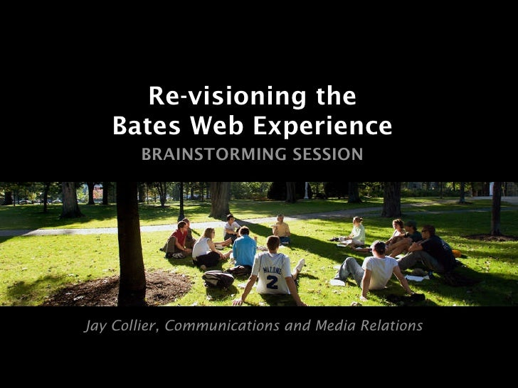 Revisioning the Bates Web Experience